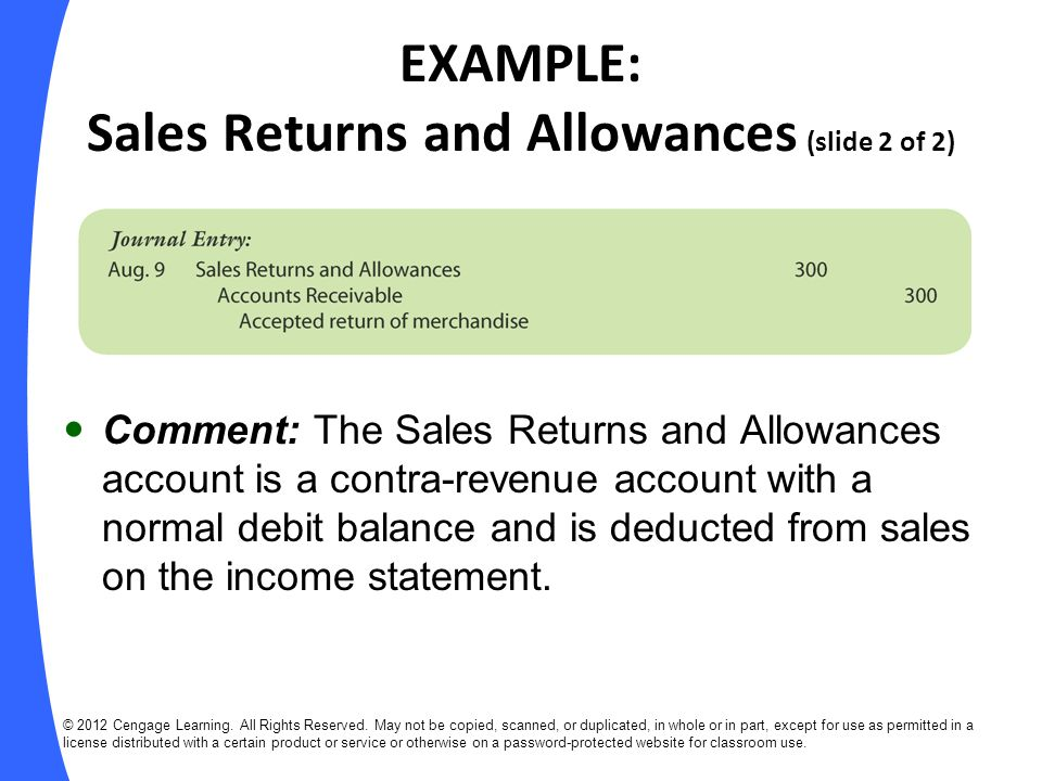 EXAMPLE: Receipts on Account (slide 1 of 2) Sept.