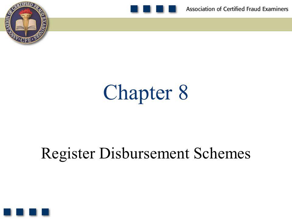 1 Register Disbursement Schemes Chapter 8