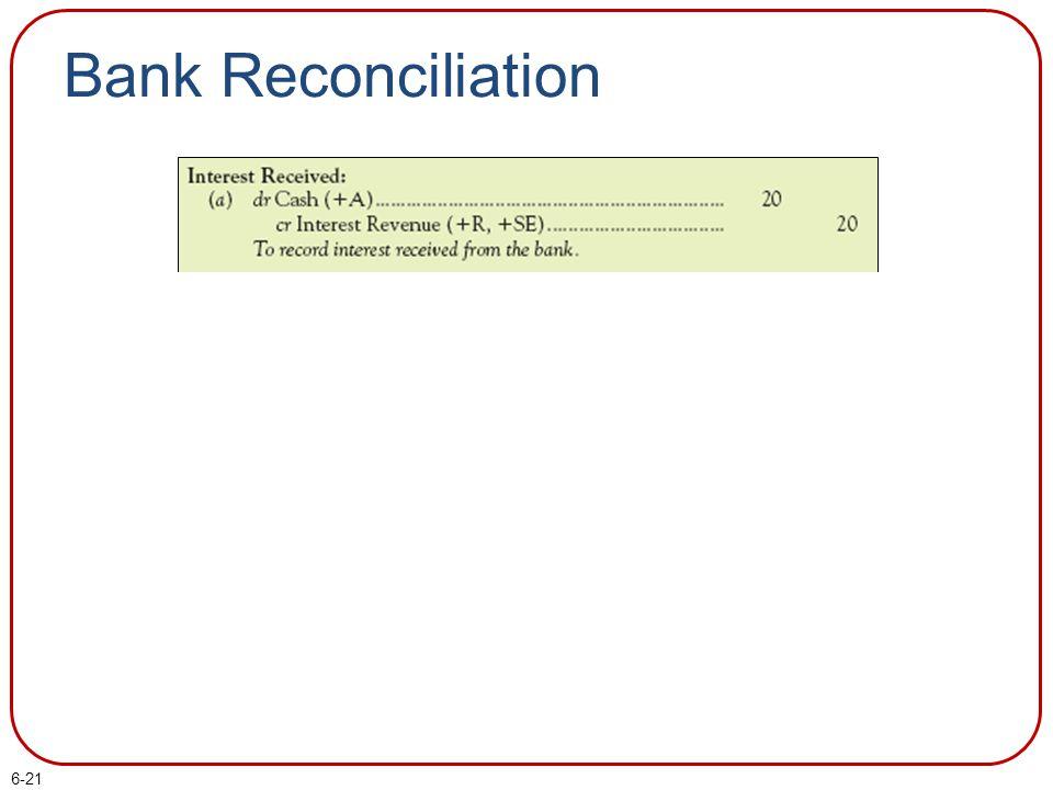 6-21 Bank Reconciliation
