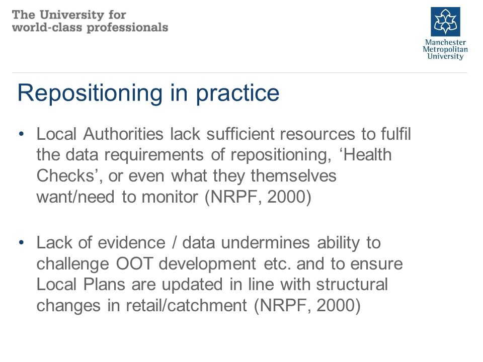 Masterclass in place intelligence and forecasting Collation, evaluation and analysis of place related secondary data.