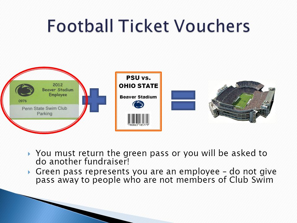  You must return the green pass or you will be asked to do another fundraiser.