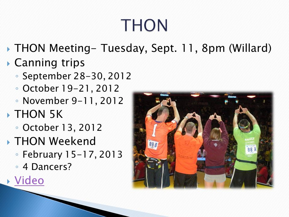  THON Meeting- Tuesday, Sept.