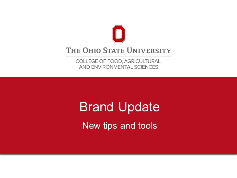 2 Brand standards Applies to everyone in the college Shows the connection to the mission areas, the college and the university Benefits programs via connection to university, and vice versa