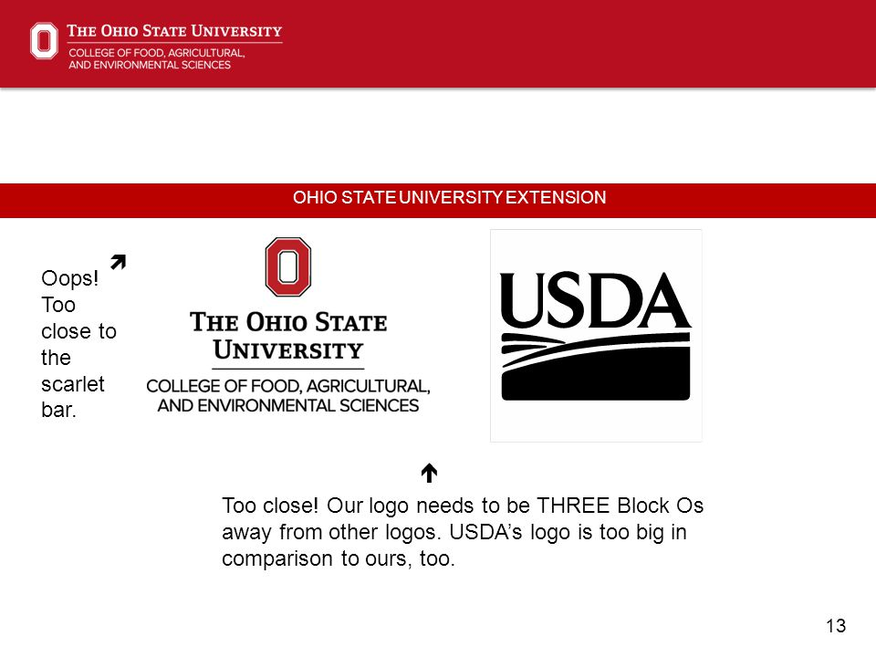13 OHIO STATE UNIVERSITY EXTENSION  Oops. Too close to the scarlet bar.