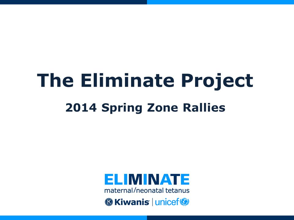 The Eliminate Project 2014 Spring Zone Rallies