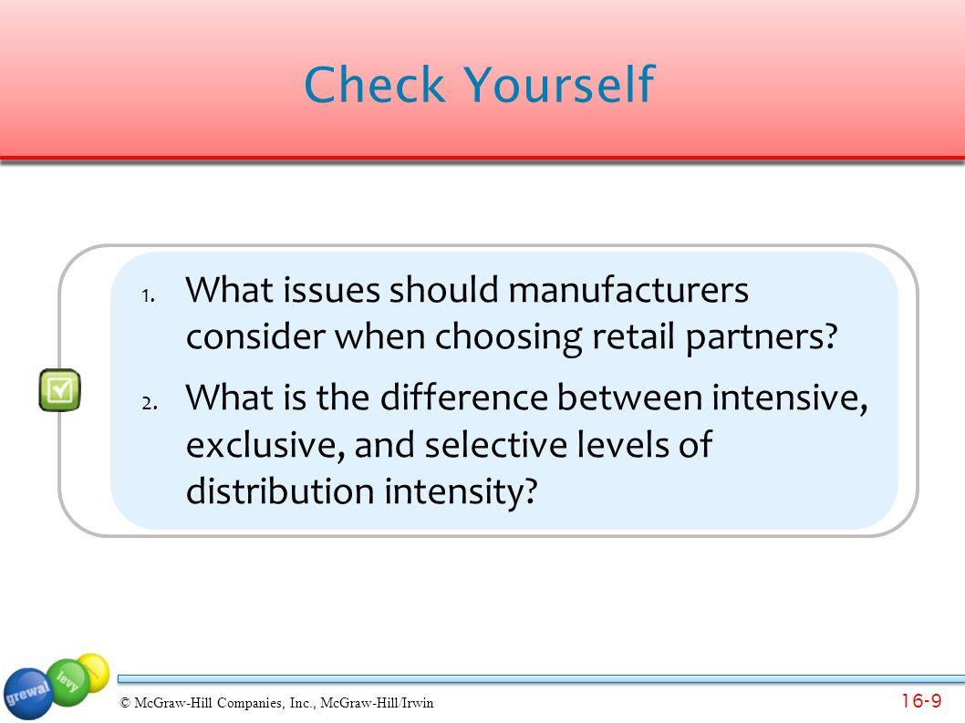 16-10 © McGraw-Hill Companies, Inc., McGraw-Hill/Irwin Retailer's Reaction.