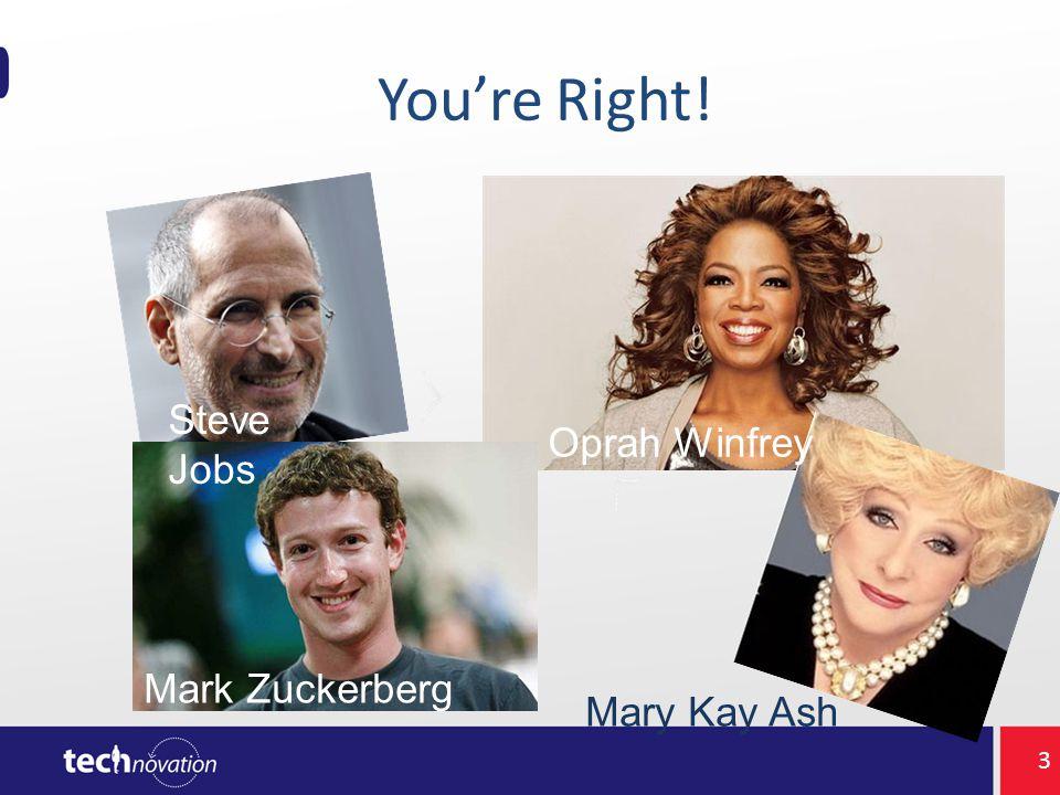 You're Right! Steve Jobs Mark Zuckerberg Oprah Winfrey Mary Kay Ash 3