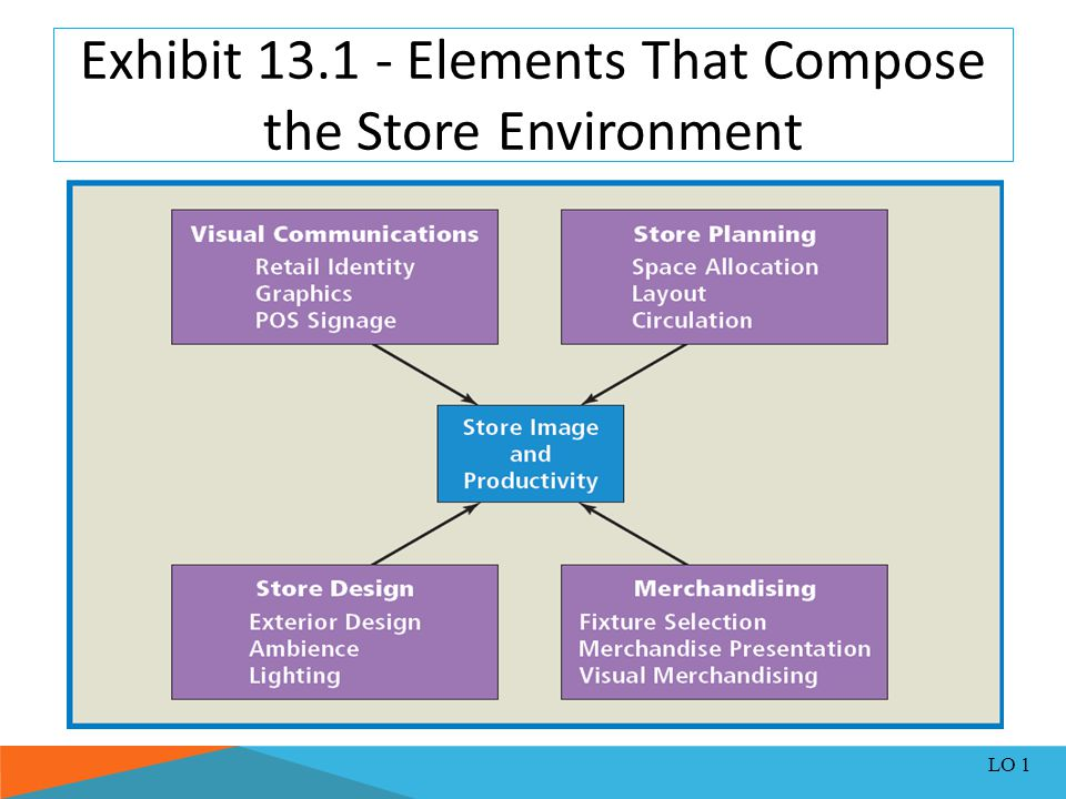 Exhibit 13.1 - Elements That Compose the Store Environment LO 1