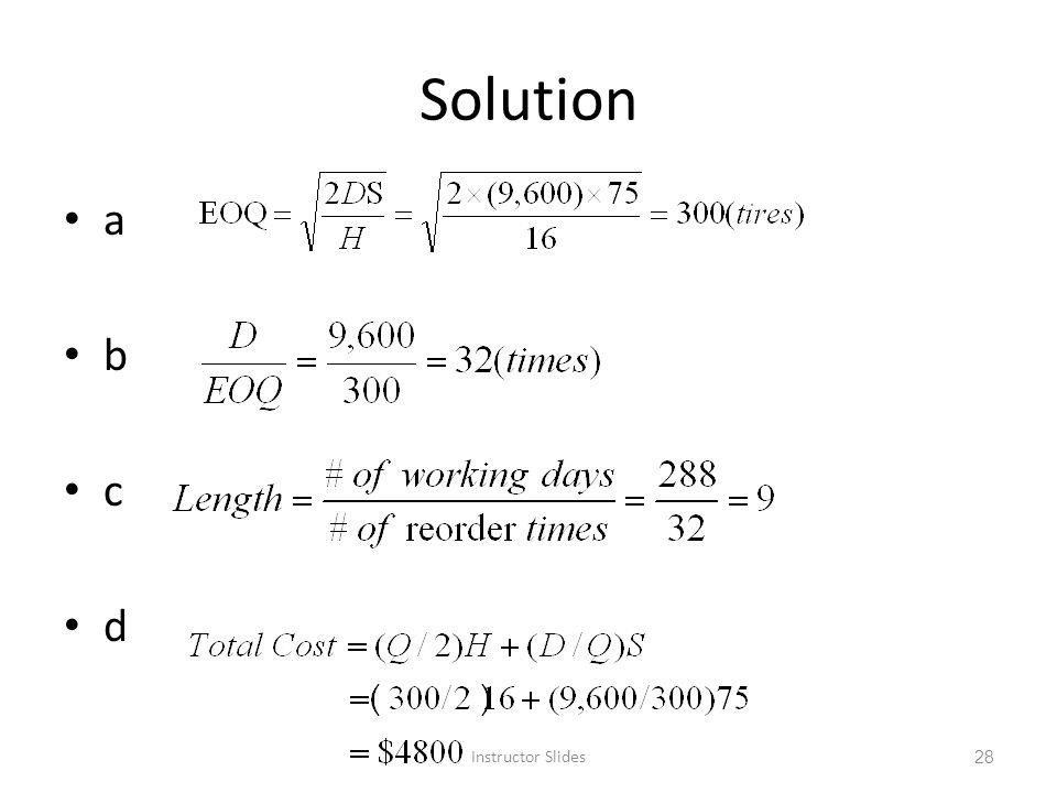 Solution a b c d Instructor Slides 28