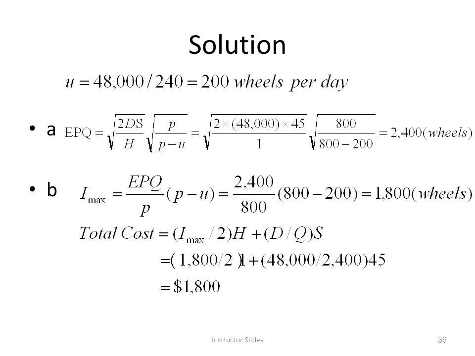 Solution a b Instructor Slides 36