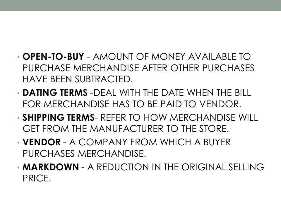 5 Way Retailers Sell Markdown Merchandise 1.SELL, OR JOB-OUT TO ANOTHER RETAILER SUCH AS T.J.
