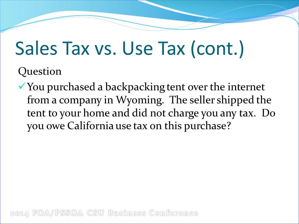 Sales Tax vs.