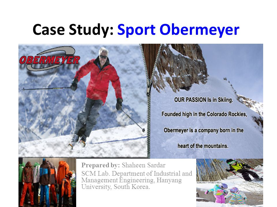 Obersport Limited Obersport Ltd To coordinate production of sport obermeyer's products in Far East Responsible for fabric and component sourcing Joint Venture formed in 1985 by Klaus Obermeyer's Son – Wally (Harvard Educated) Raymond Tse – Owner of Alpine- 80% order of Sport obermeyer Klaus entrusts Raymond Tse to make all decisions regarding production and investment