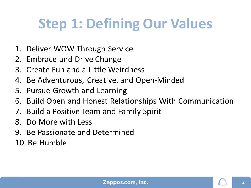 Step 2: Committing to our Values RecruitingOnboardingEmployee RelationsHire slowly, fire quickly 5