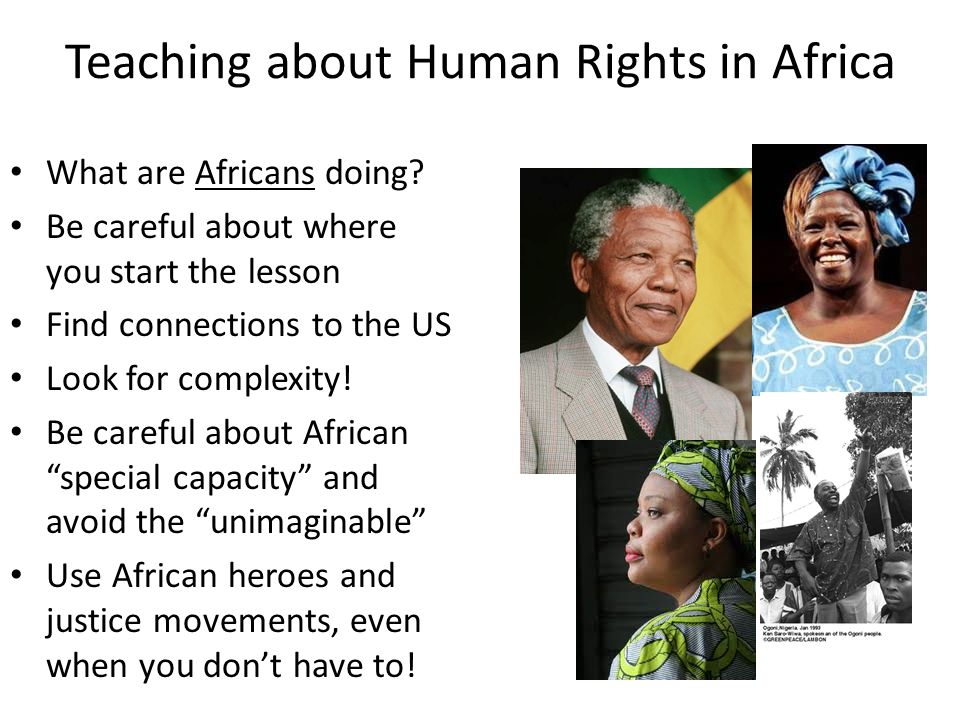 Teaching about Human Rights in Africa What are Africans doing.