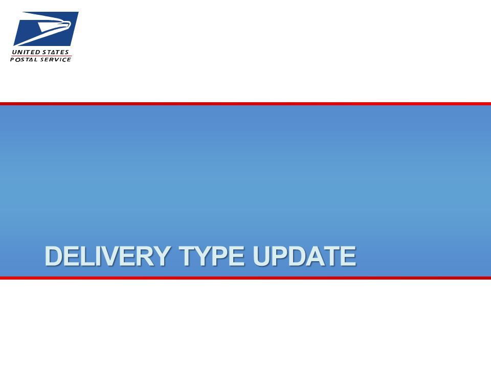 DELIVERY TYPE UPDATE