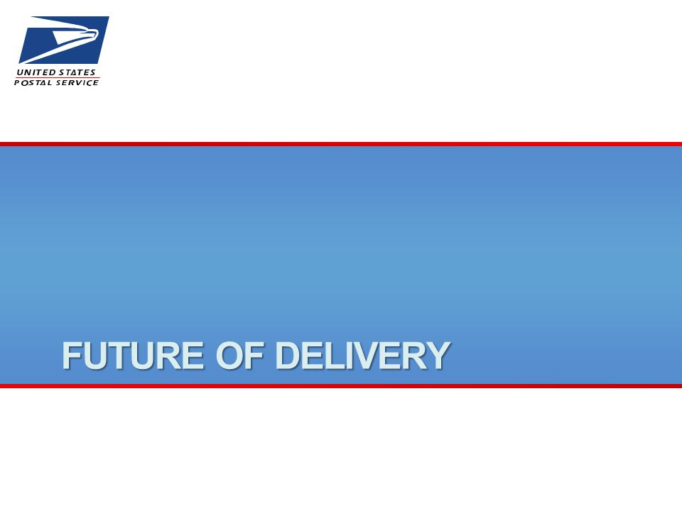 FUTURE OF DELIVERY