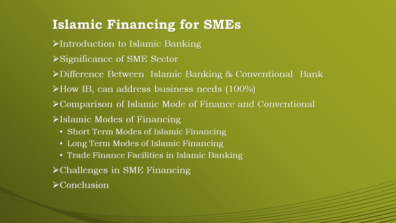 Significance of SME Sector 1Total Population182Mn100% 2Financially Included18.2Mn10% 3Financially Excluded163.8Mn90% 4Financially Excluded-Major SectorSME 590% of all private enterprisesSME 6SMEs access to finance from banking sector: Pakistan India Bangladesh 04% 33% 32% 7SME lending of total credit06% 8Surveyed Facts Hard to borrow from banks Not even have a bank account 51% 31%