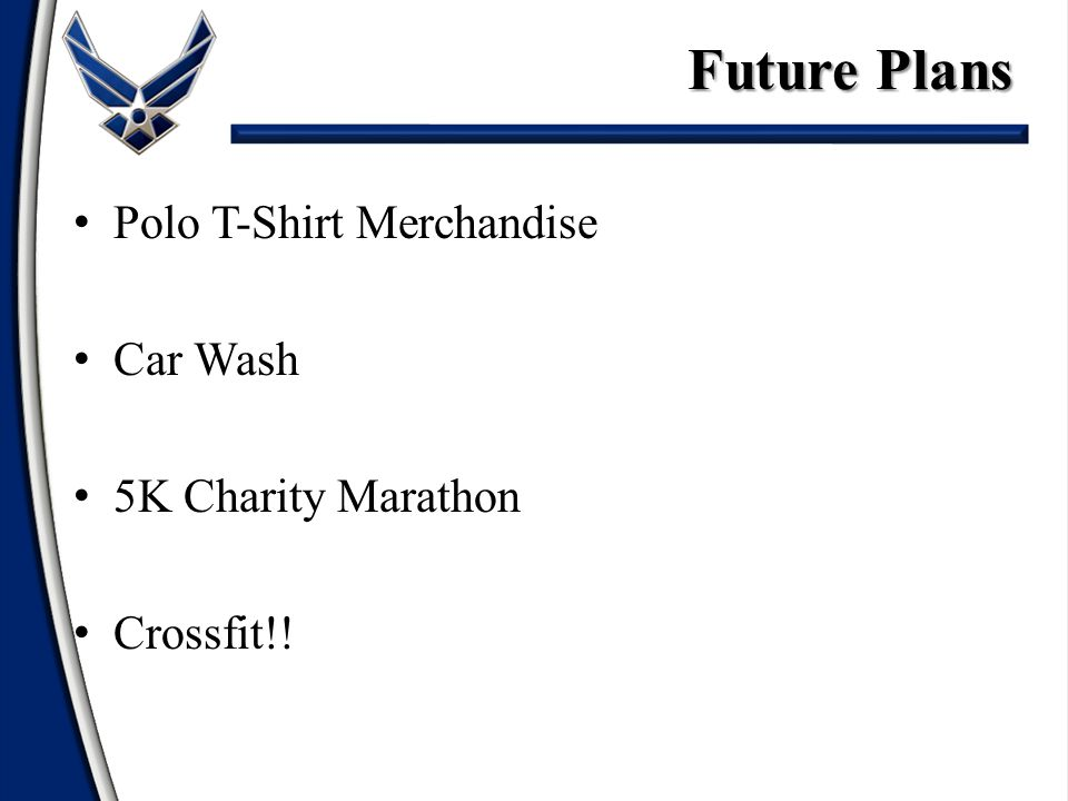 Polo T-Shirt Merchandise Car Wash 5K Charity Marathon Crossfit!! Future Plans