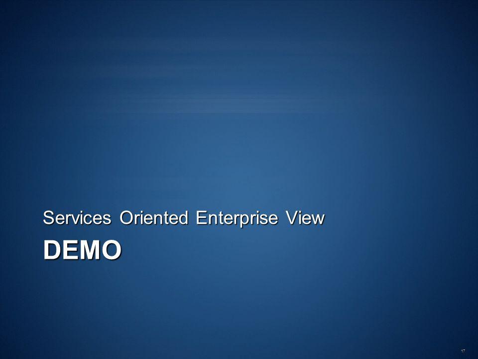 DEMO Services Oriented Enterprise View 17