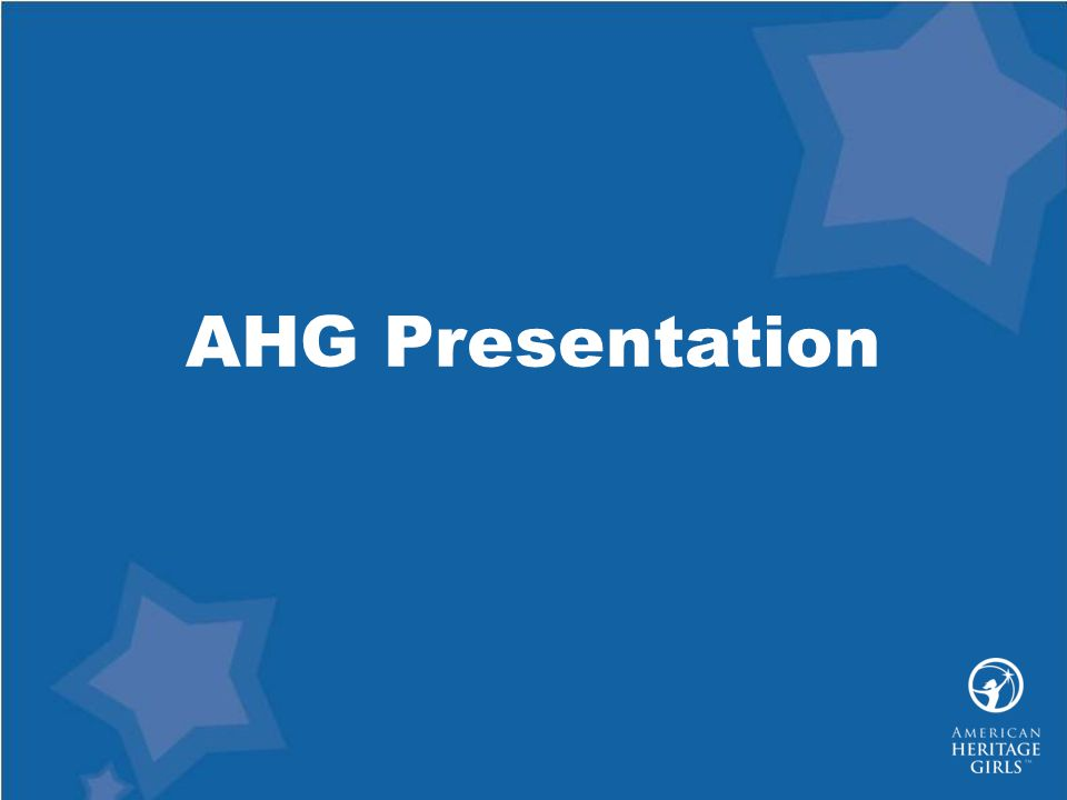 AHG Presentation