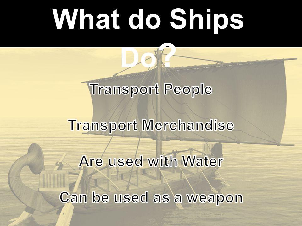 What do Ships Do