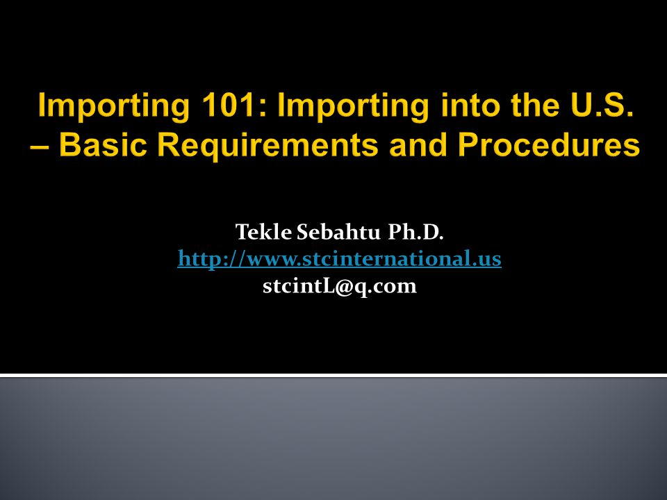 Tekle Sebahtu Ph.D. http://www.stcinternational.us stcintL@q.com