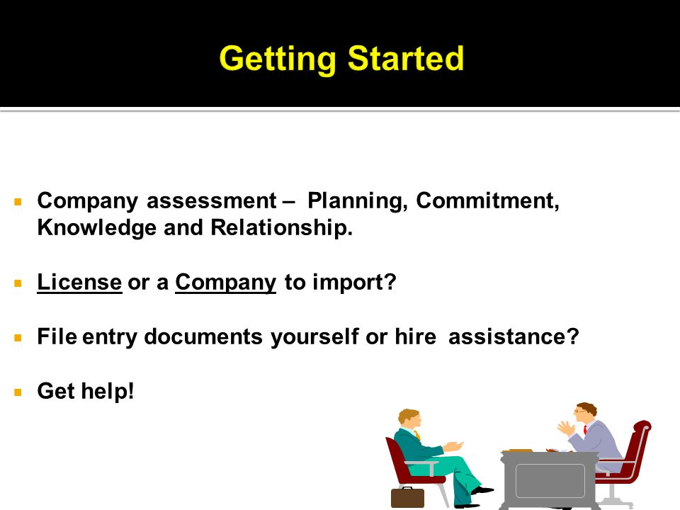 Company assessment – Planning, Commitment, Knowledge and Relationship.