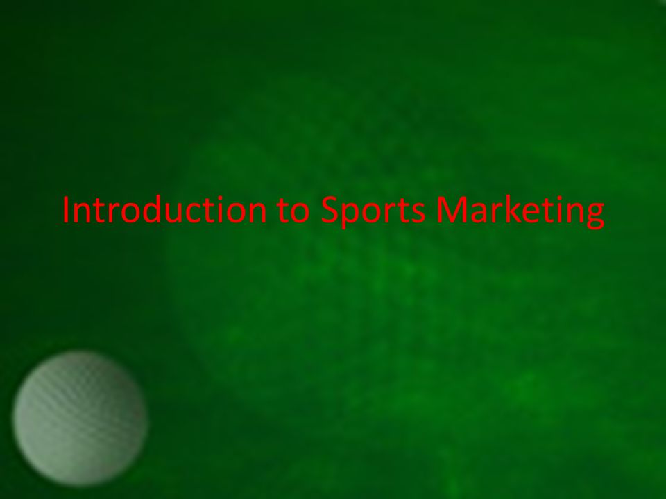 Introduction to Sports Marketing