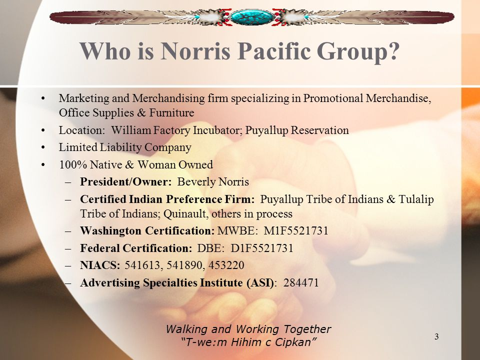 Who is Norris Pacific Group.