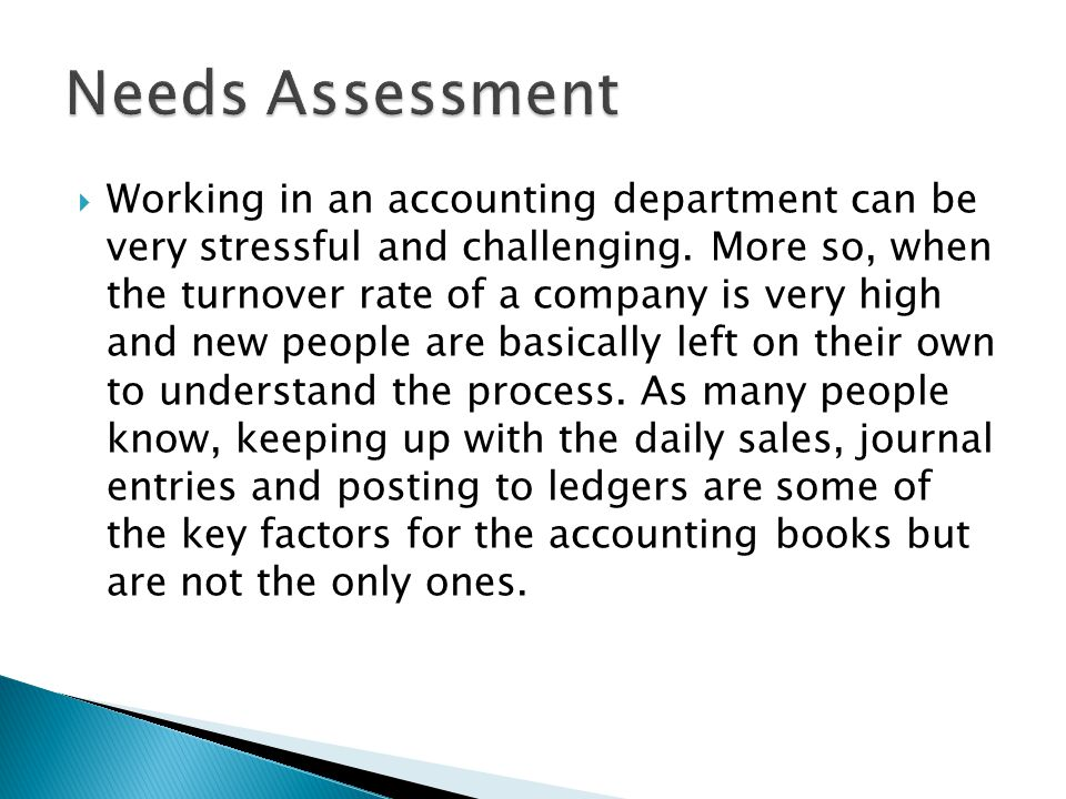  Working in an accounting department can be very stressful and challenging.