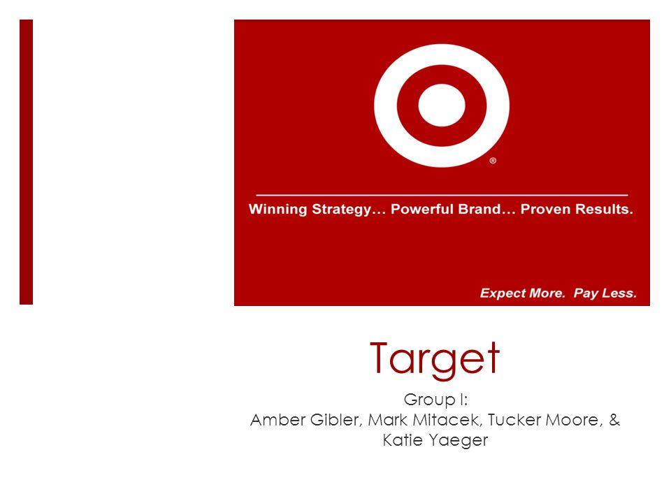 Target Group I: Amber Gibler, Mark Mitacek, Tucker Moore, & Katie Yaeger