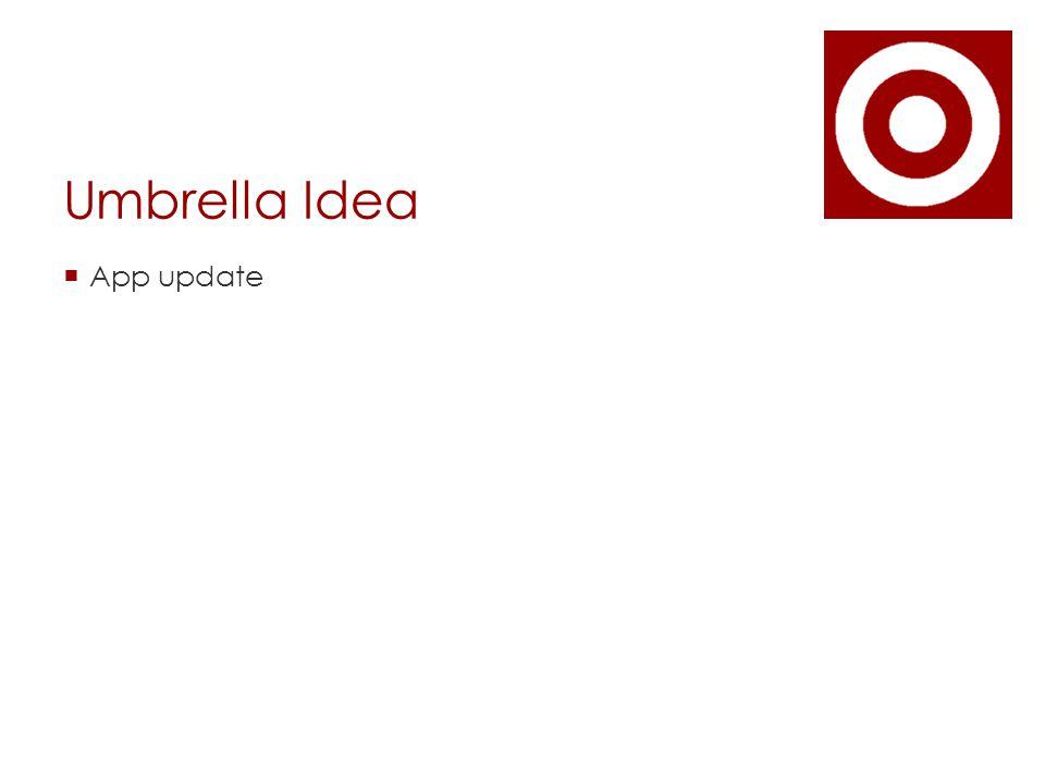 Umbrella Idea  App update