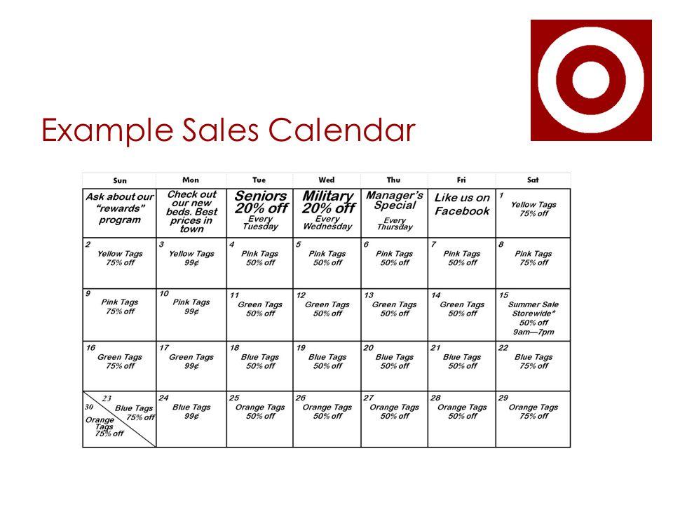 Example Sales Calendar