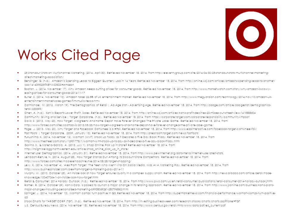 Works Cited Page  25 Standout Stats on Multichannel Marketing.