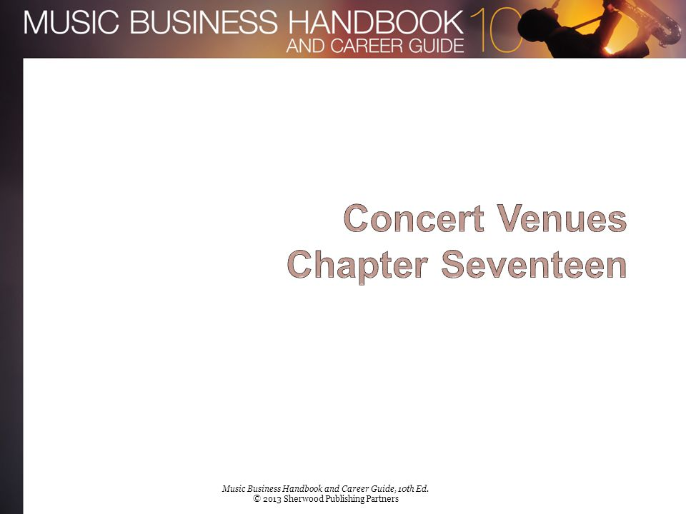 Chapter 17 Music Business Handbook and Career Guide, 10th Ed. © 2013 Sherwood Publishing Partners