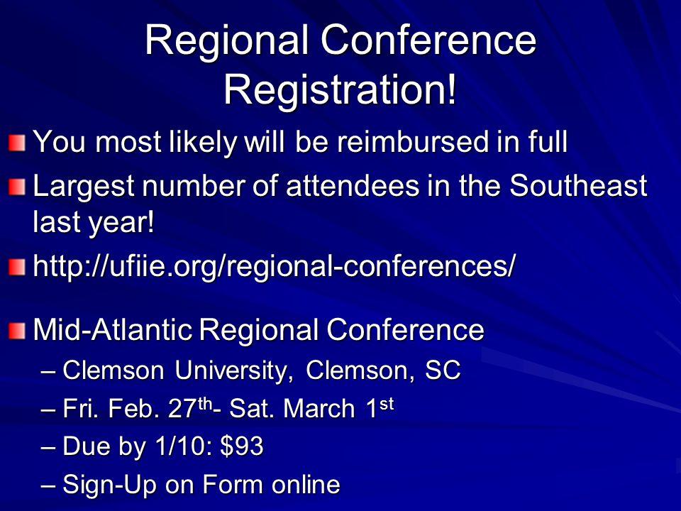 Regional Conference Registration.