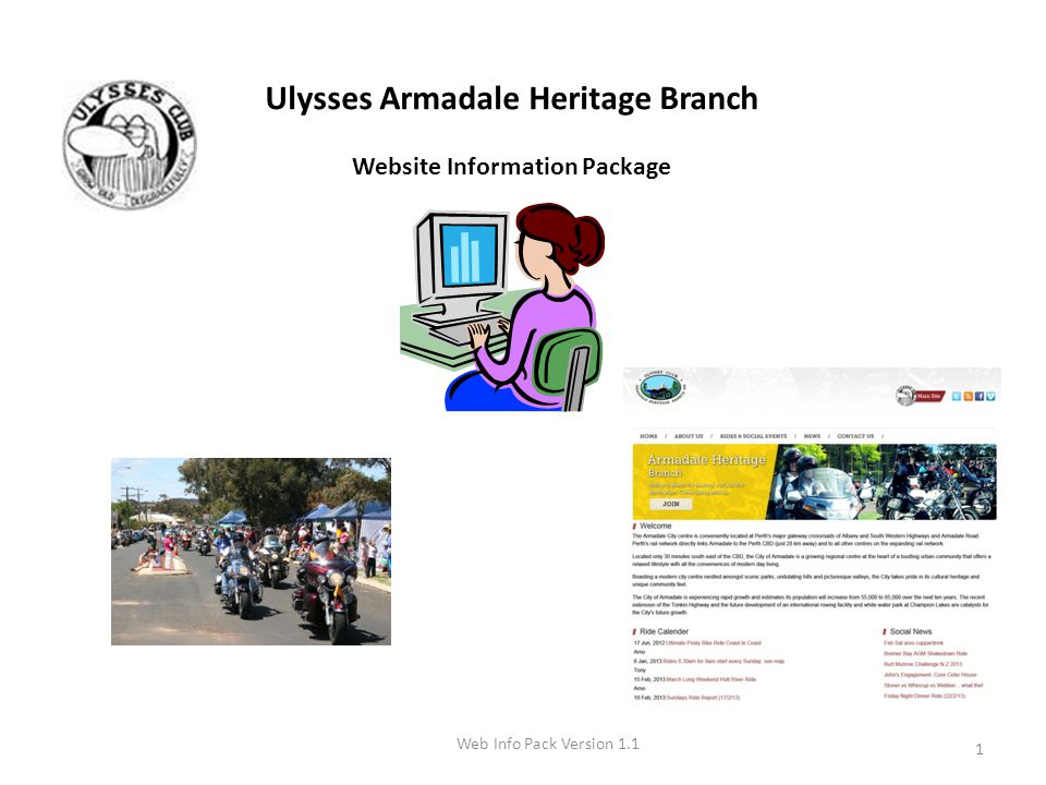 2 Signing in to the Armadale Heritage Branch Website 1.Type the following web address into your web browser and hit Enter.