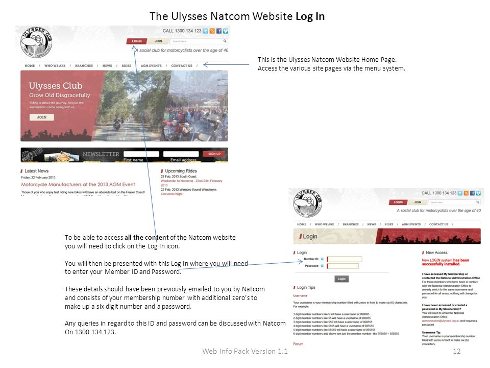 Web Info Pack Version 1.112 The Ulysses Natcom Website Log In This is the Ulysses Natcom Website Home Page.