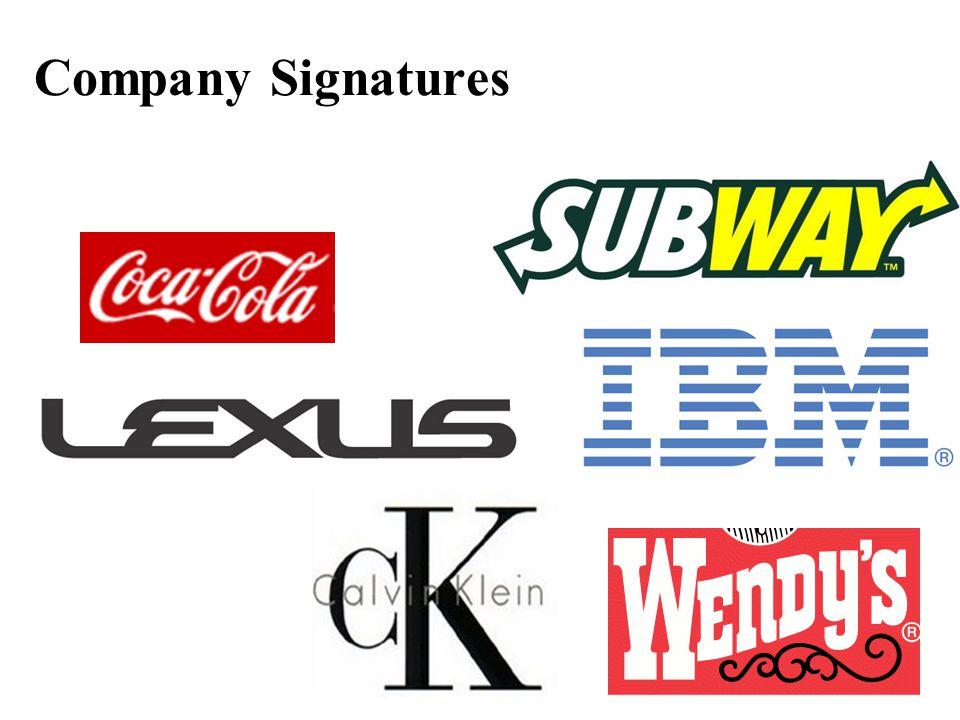 Company Signatures