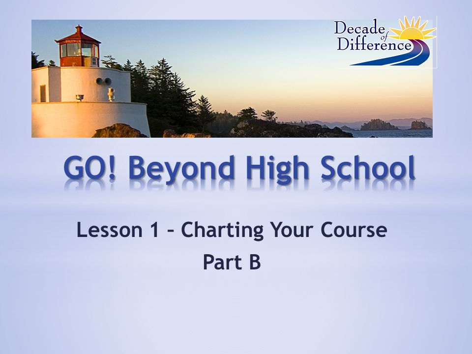 Lesson 1 – Charting Your Course Part B