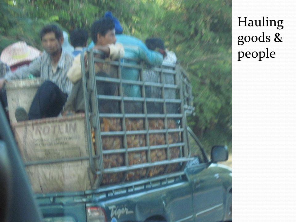 Hauling goods & people