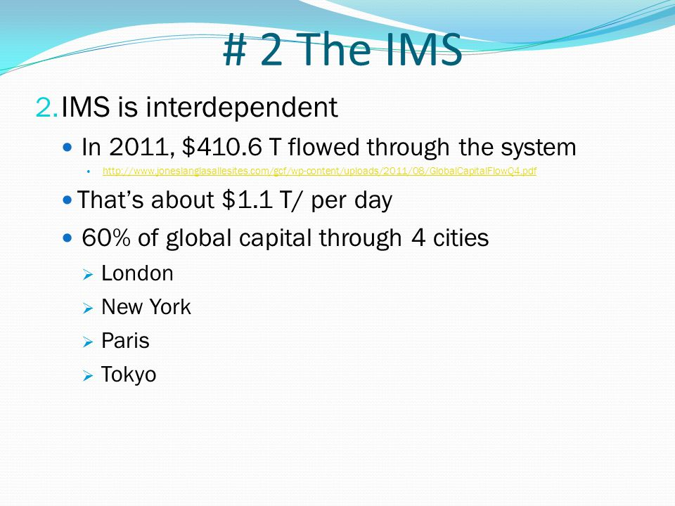 # 1 What IPE IS 3 Main IPE Parts 1.International Monetary System Currency exchange 2.