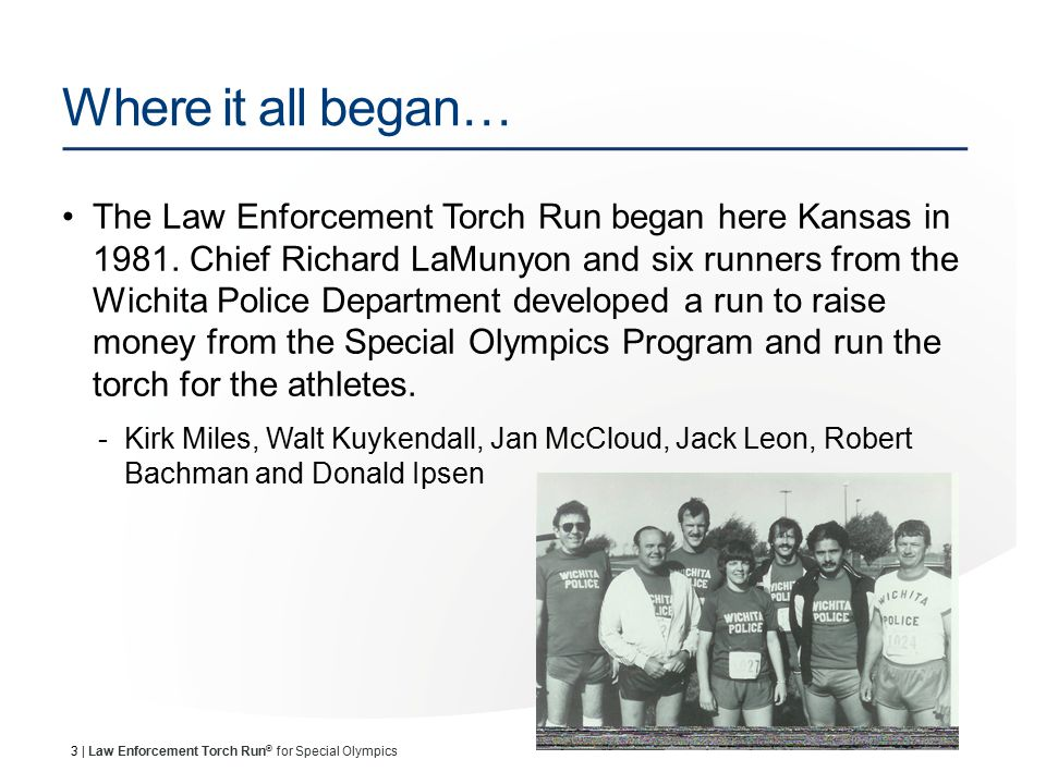 14 | Law Enforcement Torch Run ® for Special Olympics Where does the money go?.