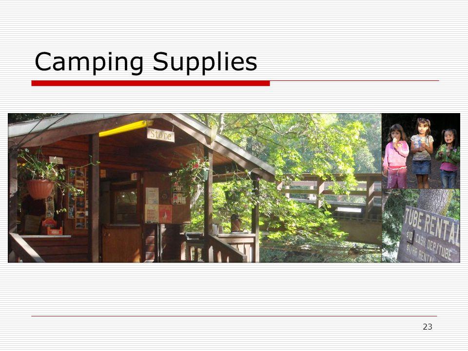 23 Camping Supplies