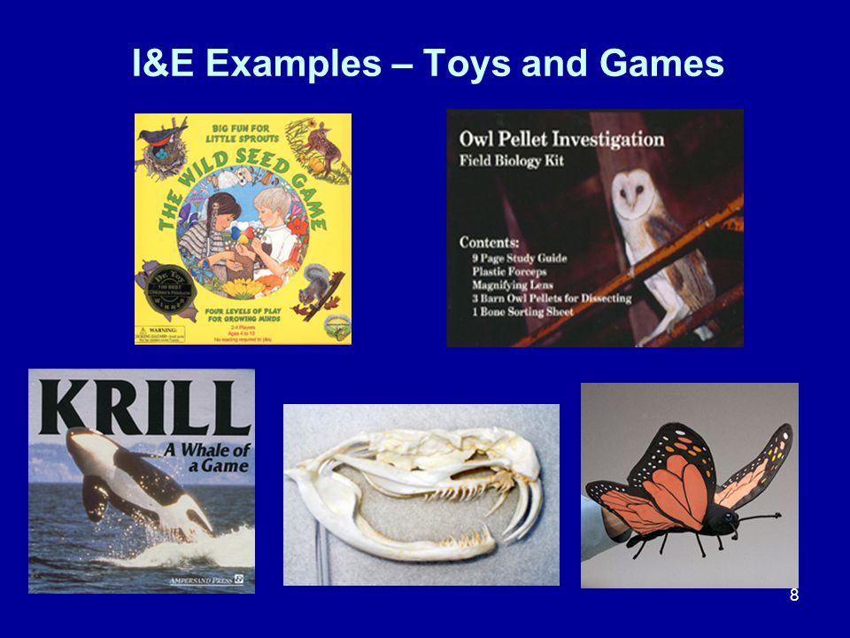 8 I&E Examples – Toys and Games