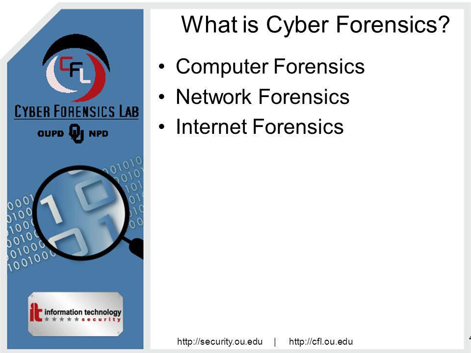 http://security.ou.edu | http://cfl.ou.edu 15 Why perform Cyber Forensics.