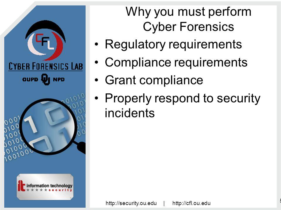 http://security.ou.edu | http://cfl.ou.edu 16 Who should do Forensics.