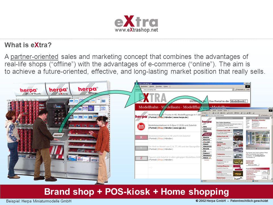  2002 Herpa GmbH – Patentrechtlich geschützt www.eXtrashop.net Beispiel: Herpa Miniaturmodelle GmbH What is eXtra? A partner-oriented sales and marke