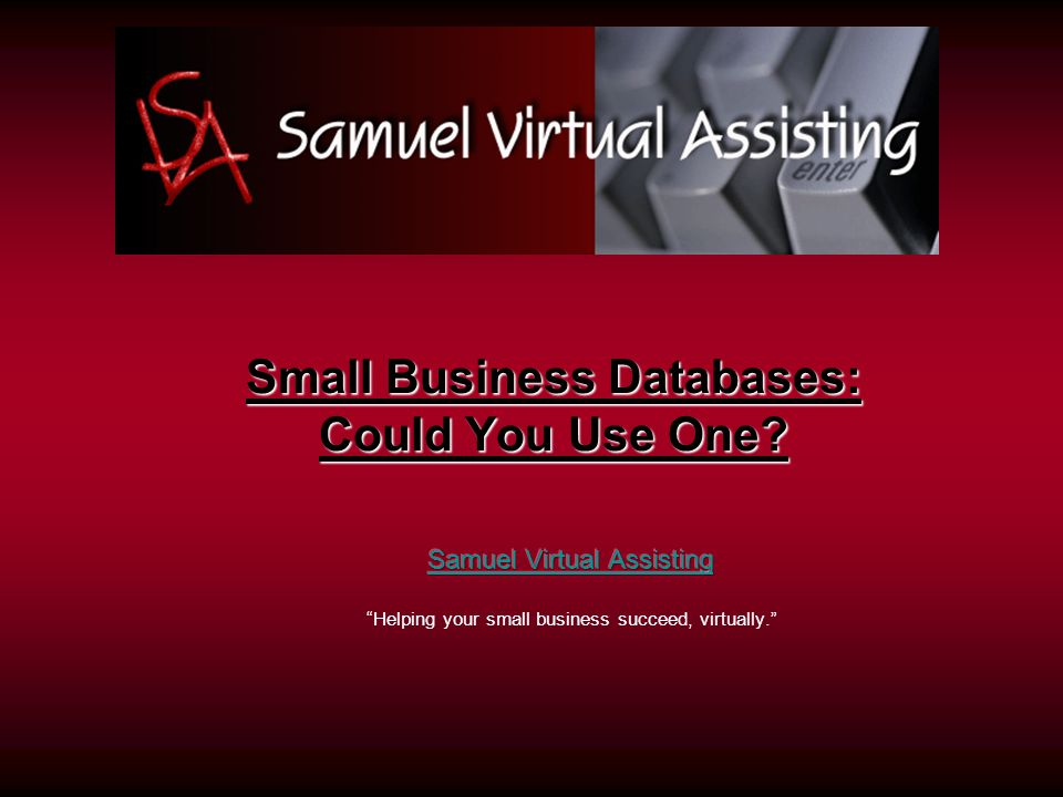 Small Business Databases: Could You Use One
